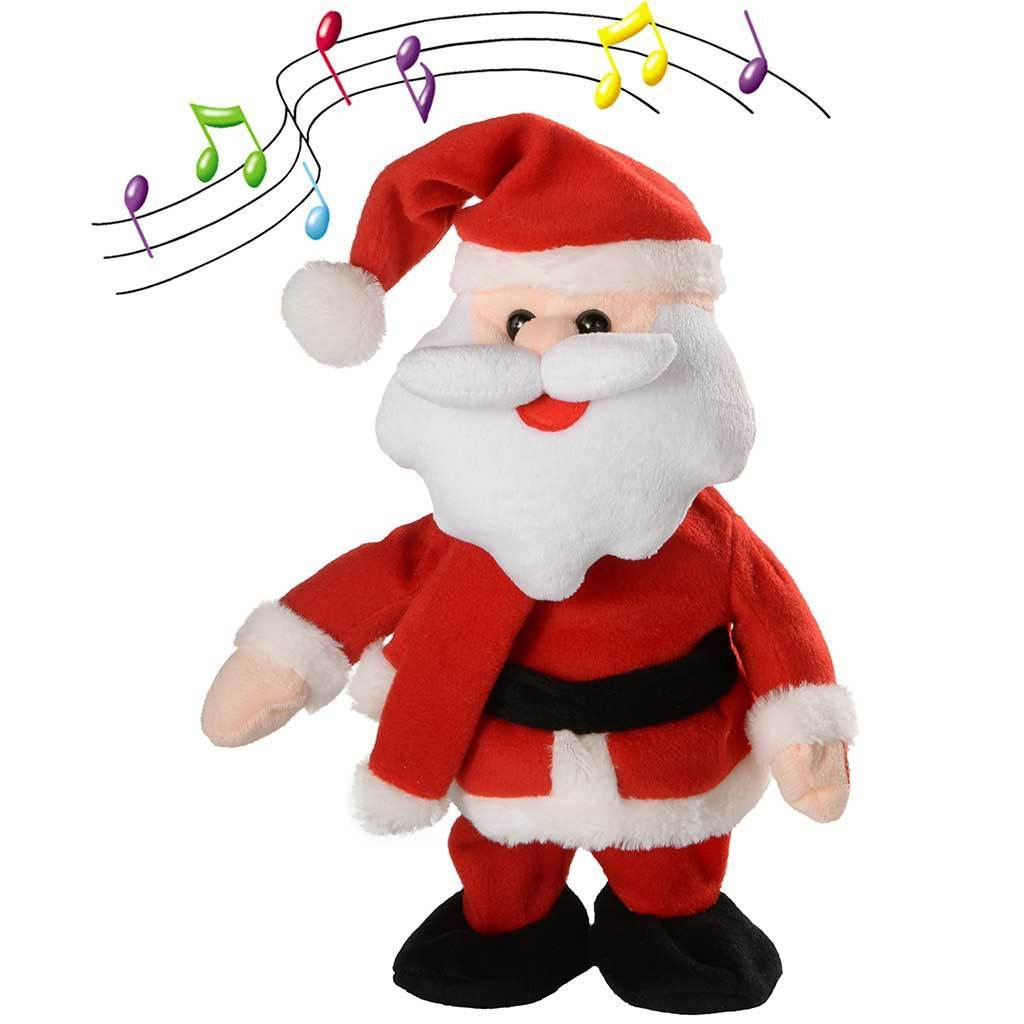 30 cm Walking/ Dancing and Singing Santa Christmas Decoration