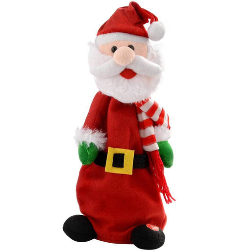 Jumping and Singing Santa Christmas Decoration, 35 cm - Multi-Colour