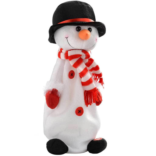 Jumping and Singing Snowman Christmas Decoration, 35 cm - Multi-Colour