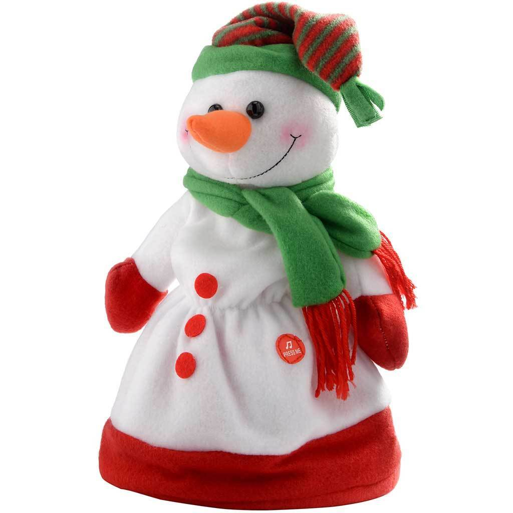 30 cm Novelty Dancing Waving and Singing Christmas Snowman Hat, Multi-Colour