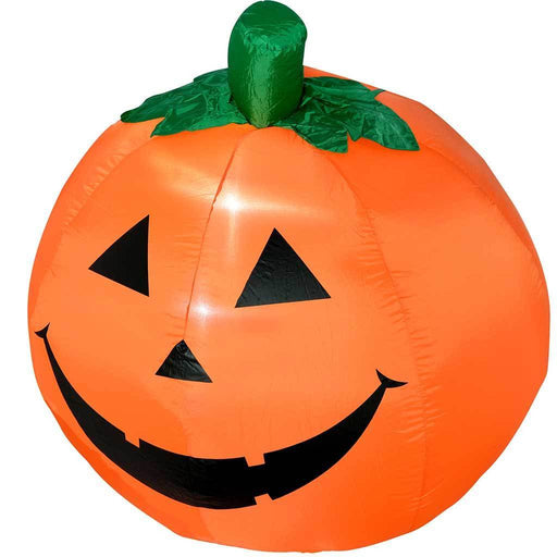 "120 cm Large Pre-Lit ""Pumpkin"" Inflatable Halloween Decoration with LED Lights and Fan, Multi-Colour"