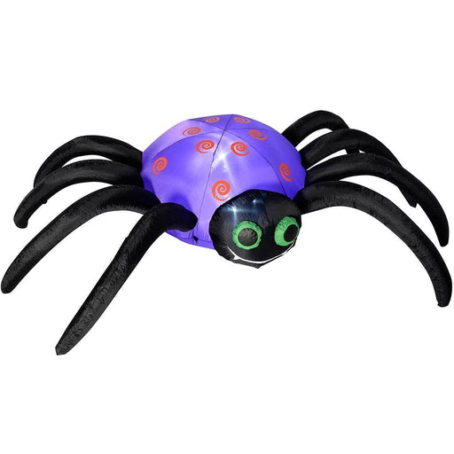 "240 cm Large Pre-Lit ""Spider"" Inflatable Halloween Decoration with LED Lights and Fan, Multi-Colour"