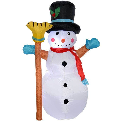 "120 cm Large Pre-Lit ""Snowman"" Inflatable Christmas Decoration with LED Lights and Fan, Multi-Colour"