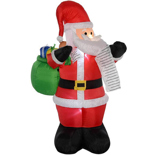 "180 cm Large Pre-Lit ""Santa"" Inflatable Christmas Decoration with LED Lights and Fan, Multi-Colour"