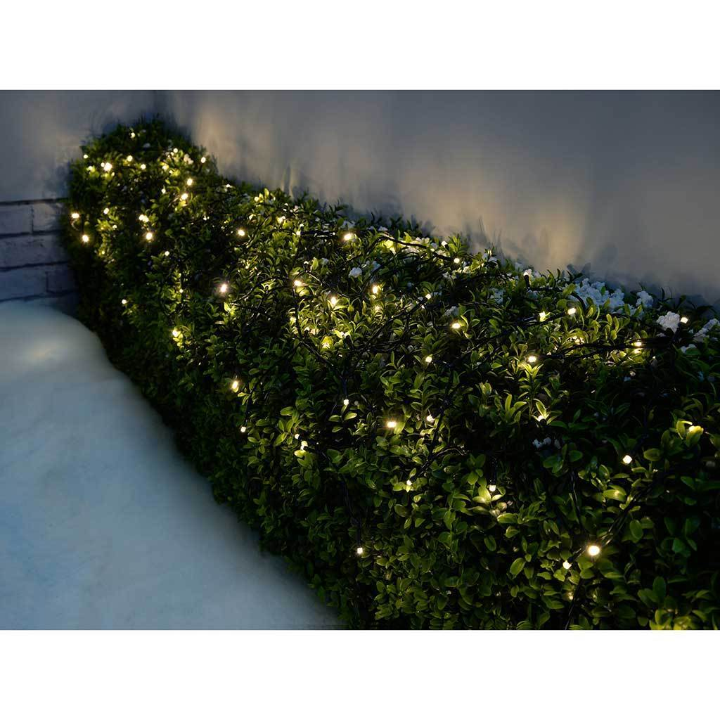 Outdoor Battery Operated 400 Multi-Function LED Lights with Timer, 40 m - Warm White