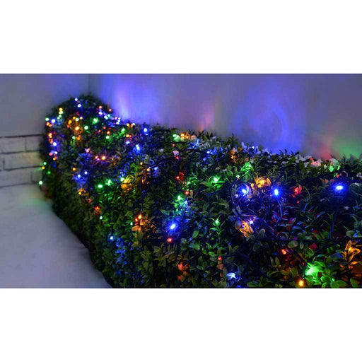 40m Outdoor Battery Operated 400 Multi-Function LED Lights with Timer Controller, Multi-Colour