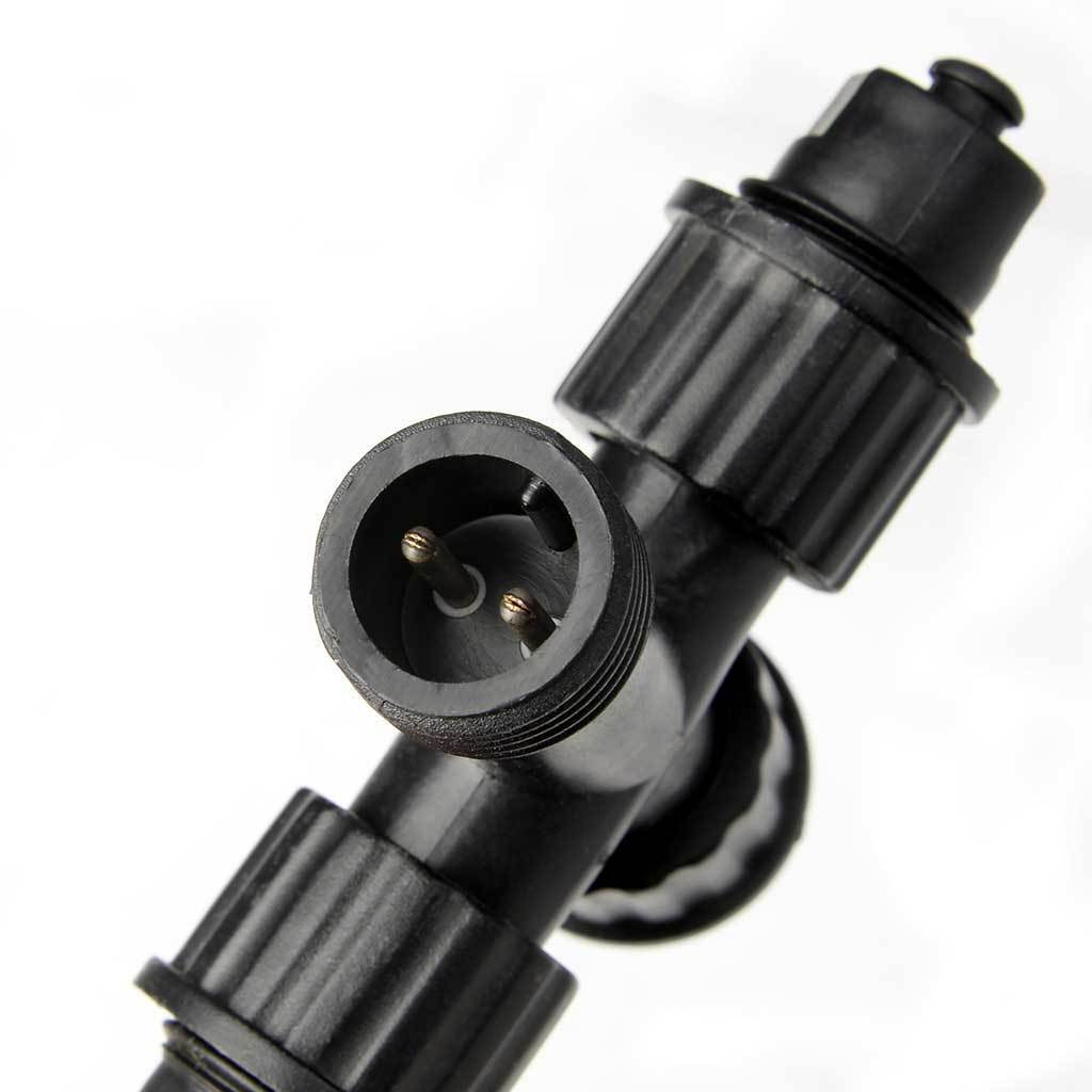 2 Pin 3 Way Connector with 1 Male and 3 Female for Connectable Lights - Black