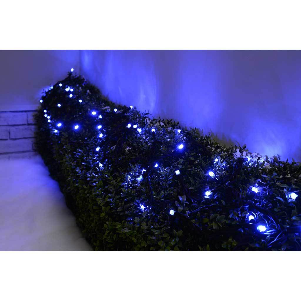 100 Connectable Twinkling LED String Lights 2 Pin Male and Female Connector, 10 m - Blue
