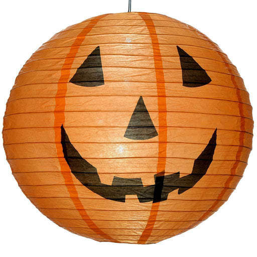 Pre-Lit Giant Pumpkin Lantern with 6 White LED lights 40 cm - Orange