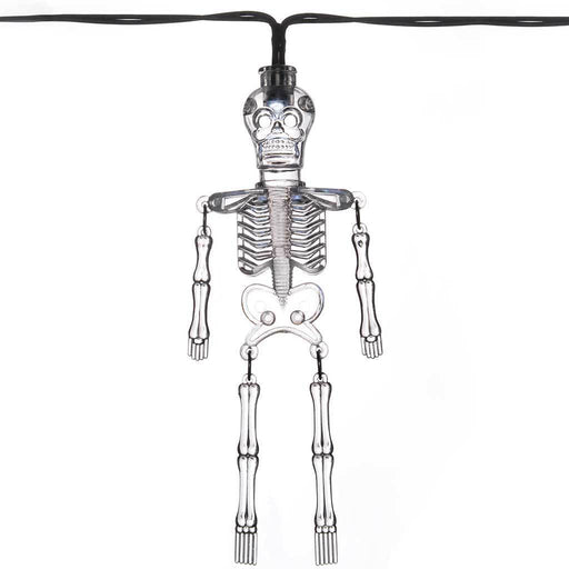 10 White LED with Acrylic Skeleton Lights Halloween Decoration, Transparent