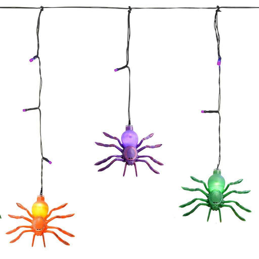 Multi-Colour Spider Icicle Lights with Timer, Halloween Decoration, 36 LED lights