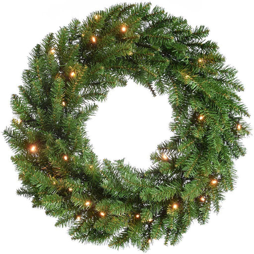 60 cm Timberland Spruce Pre-Lit Wreath Christmas Decoration Illuminated with 35 Warm White LED Lights