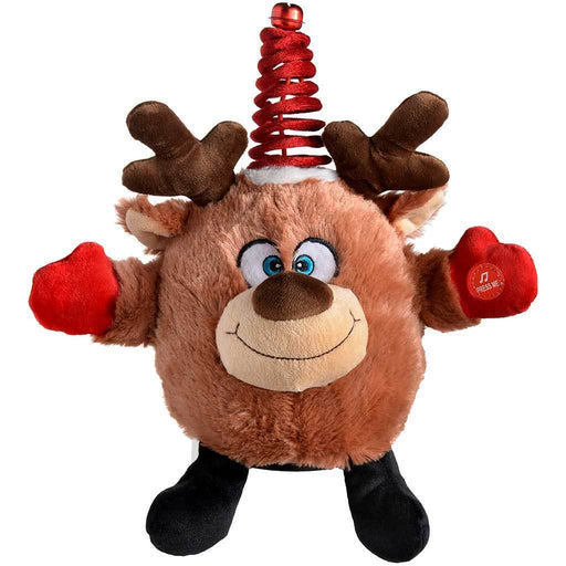 Novelty Spinning Dancing Musical Reindeer Christmas Decoration, 24 cm - Multi-Colour