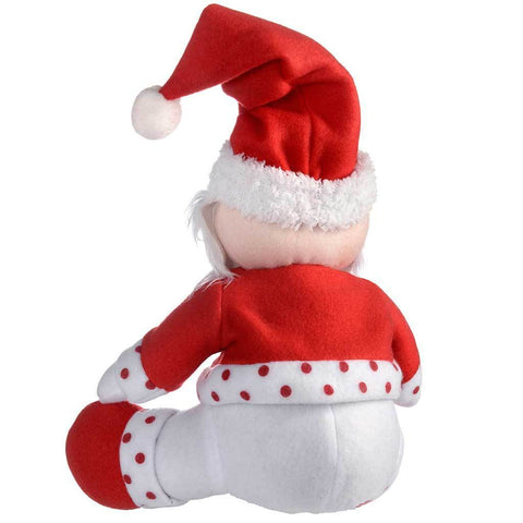 Sitting Santa and Snowman Christmas Decoration 28 cm - Red/White, Set of 2