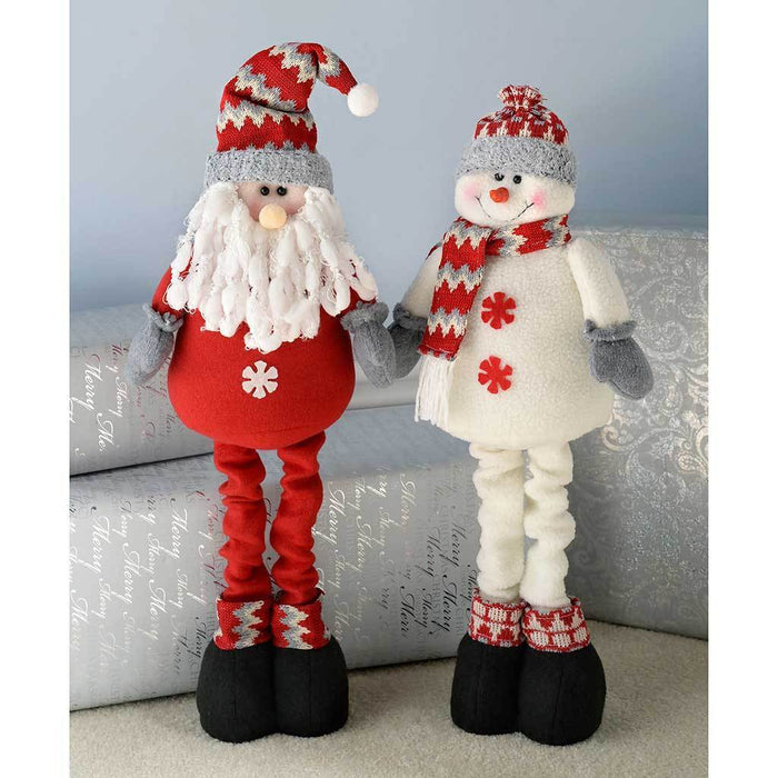 extendable free standing santa and snowman decoration 46 cm multi colour set