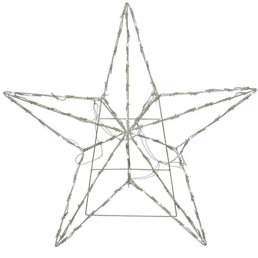 Pre-Lit Animated Multi Function 3D Star Silhouette, 81 cm - Bright White