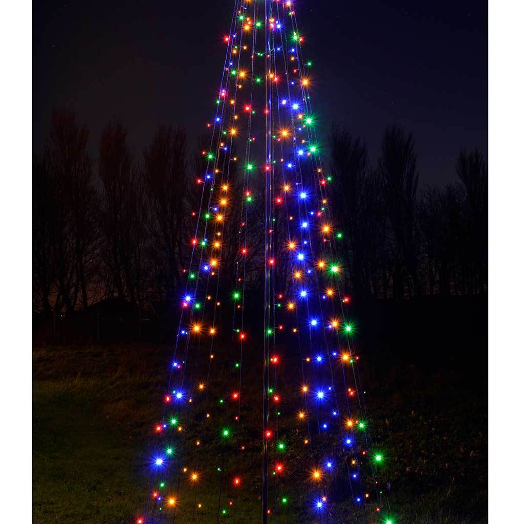 Pre-Lit LED Pop Up Christmas Tree, Multi-Colour, Multi
