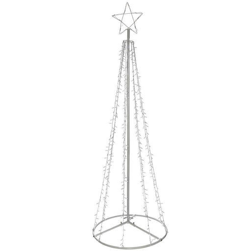 Pre-Lit LED Waterfall Pop Up Christmas Tree, 200 cm - Bright White