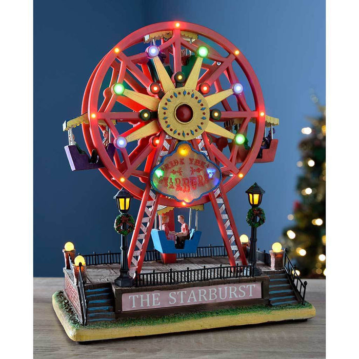 pre lit led animated ferris wheel christmas decoration 30 cm - Christmas Ferris Wheel Decoration