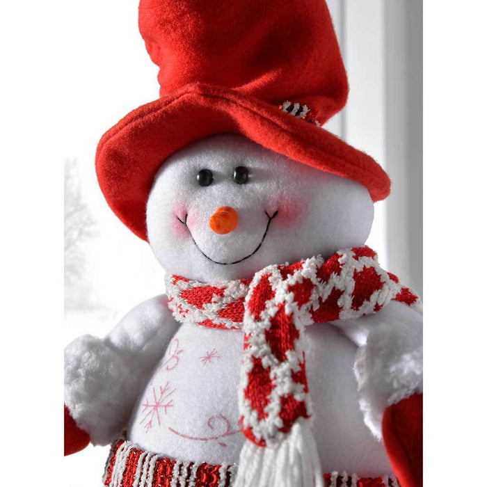 free standing christmas snowman decoration with extendable legs 45 cm multi colour