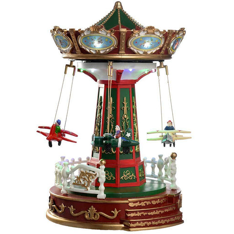 Animated Musical Amusement with Rotating Planes Multi-Colour, 30 cm