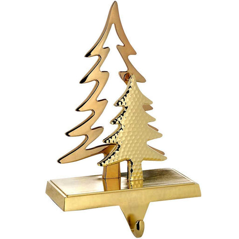 Gold Plated Christmas Tree Stocking Holder Decoration, 18 cm, Metal