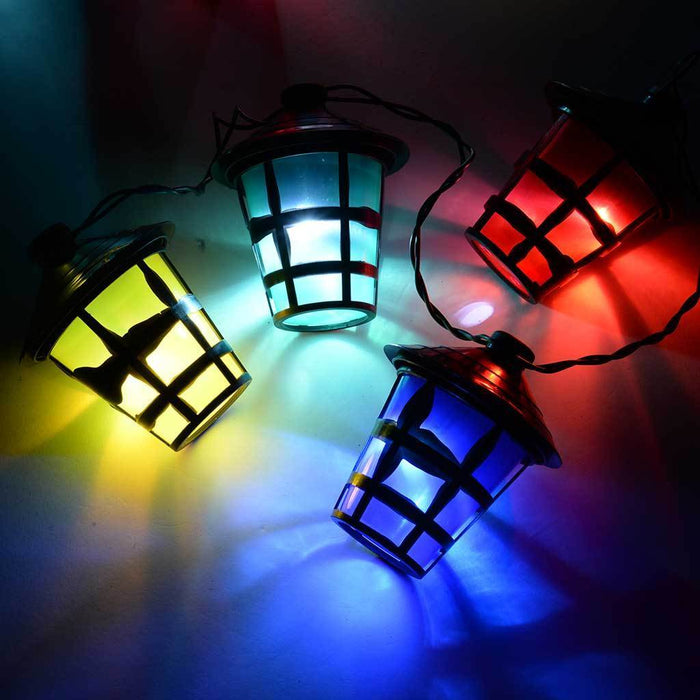 Light String with Lantern Style Shade with 15 m Cable, 70-Piece - Multi-Colour