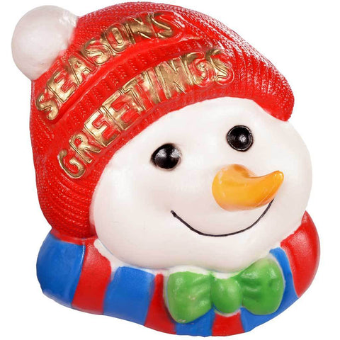 Pre-Lit 3D Moulded Snowman Head Garden Christmas Decoration, 46 cm - Large