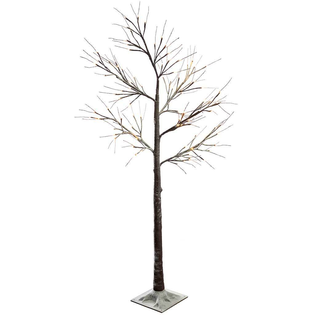 6ft Pre Lit Led Twig Tree With Snow Christmas Decoration