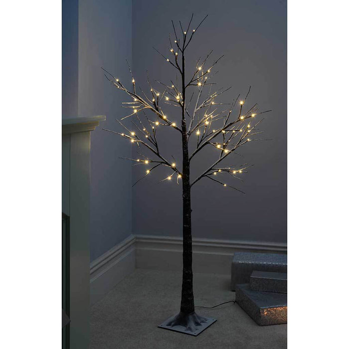 5ft Pre-Lit LED Tree with Snow Christmas Decoration, Warm White