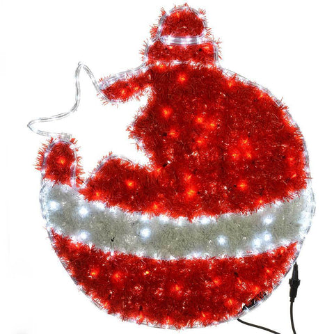 82 cm Flashing LED Tinsel Bauble Silhouette Christmas Decoration with Speed Controller