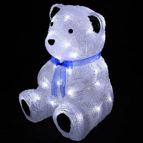 28 cm Acrylic Bear 40 White LED Silhouette Outdoor Garden Christmas Decoration