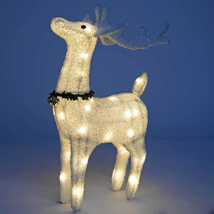 Reindeer Silhouette with Warm White LED Lights and Bells, 72 cm - Large | WeRChristmas