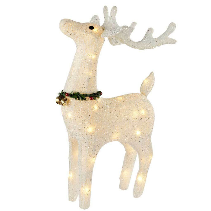 Reindeer Silhouette with Warm White LED Lights and Bells, 72 cm - Large