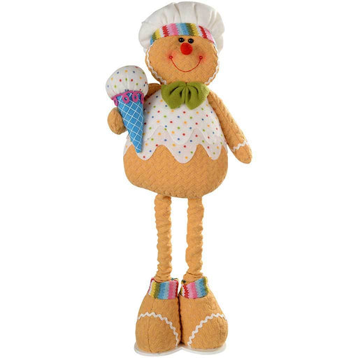 45 - 60 cm Standing Cupcake Gingerbread Man Christmas Decoration with Extendable Legs