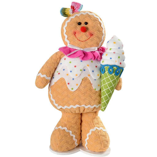 30 cm Standing Cupcake Gingerbread Girl Christmas Decoration