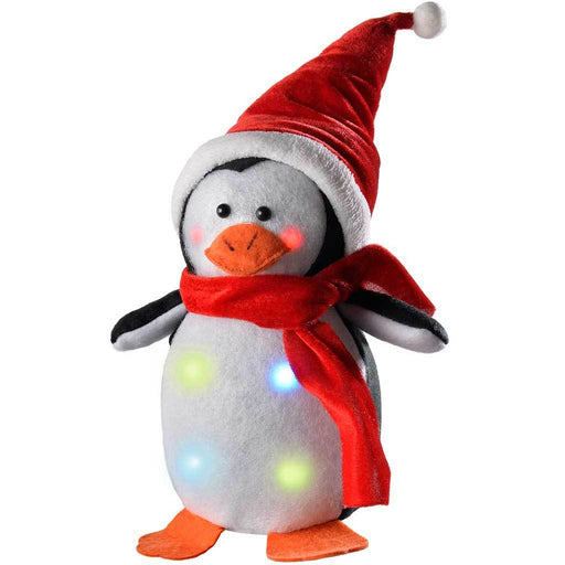 Penguin with Colour Changing LED Body and Face Christmas Decoration, 20 cm