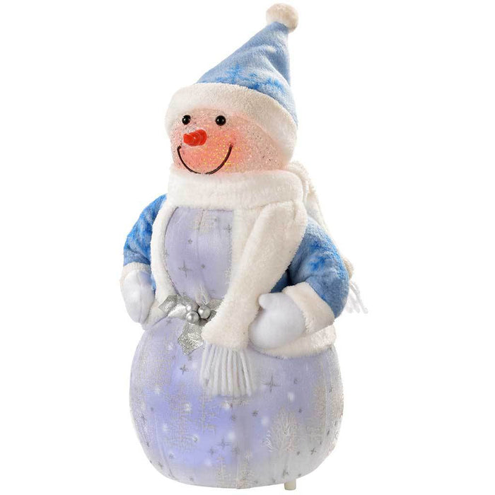 Snowman with 8 Musical Songs and Snowing Effect Colour LED Body, 33 cm - Large