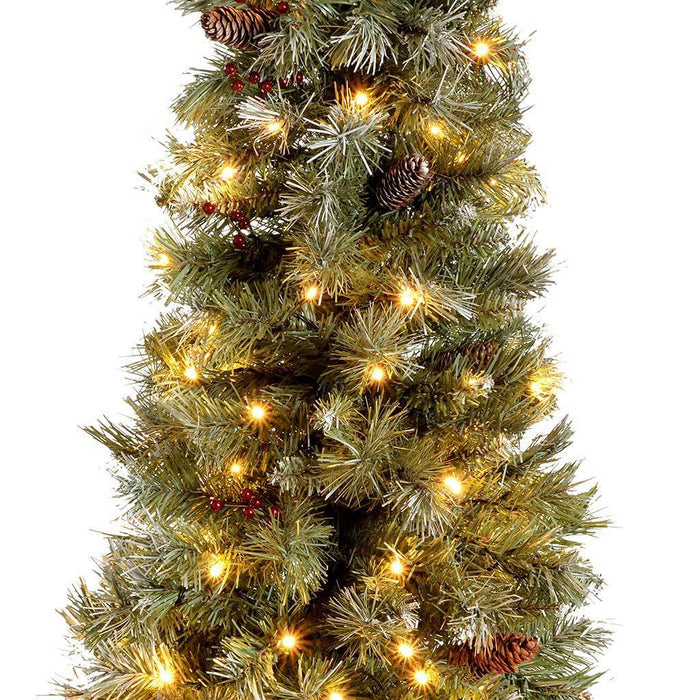 Pre-Lit Scandinavian Blue Spruce Christmas Tree with 80 ...