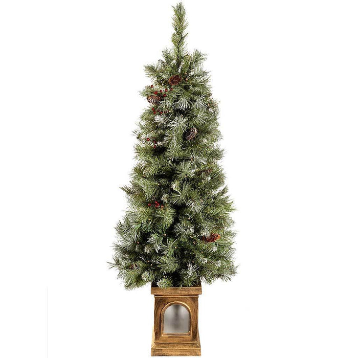2 Ft White Christmas Tree: Pre-Lit Scandinavian Blue Spruce Christmas Tree With 80