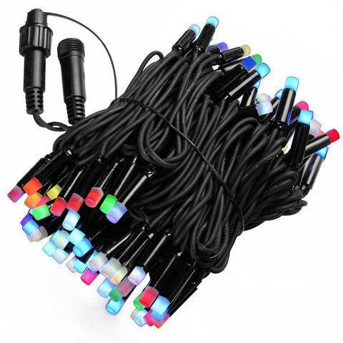 100  Piece Colour Changing Rainbow LED Connectable Rubber Light Extension Set
