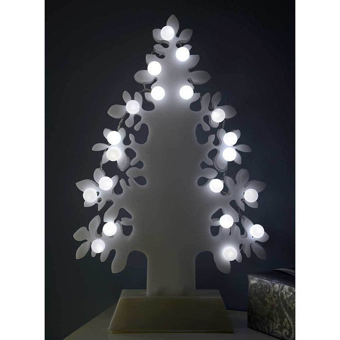 45 cm Christmas Tree Decoration with 2-LED Lights, White