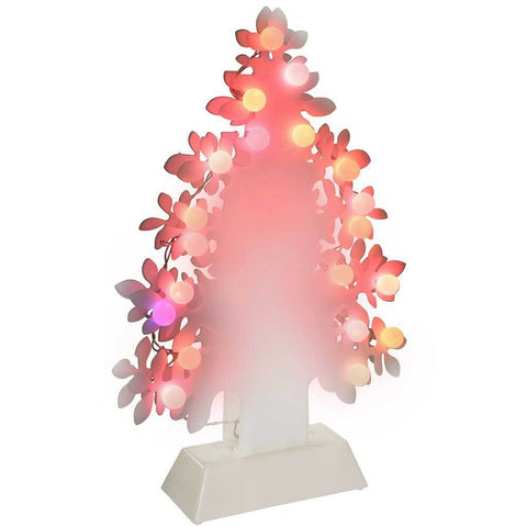 45 cm Tree Decoration with Colour Changing 20-LED Lights