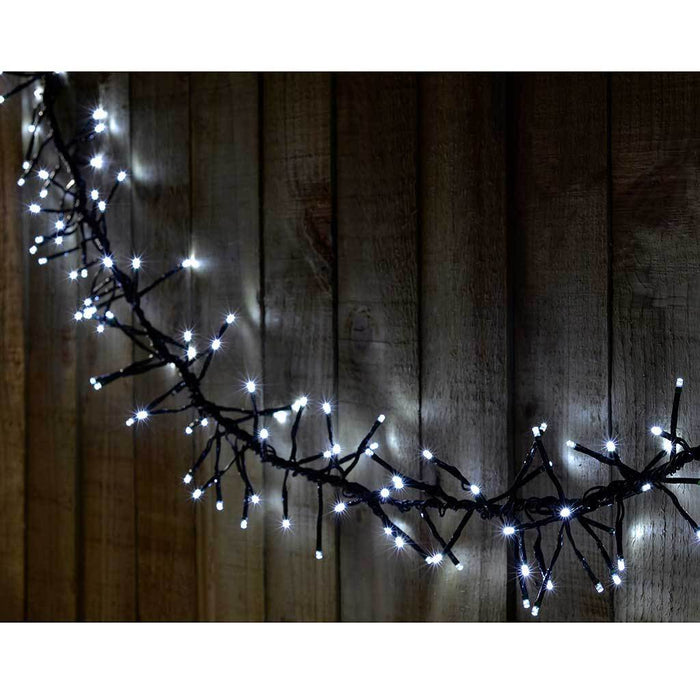 288-Piece Bright White Chasing LED Cluster Lights String Christmas Tree Decoration