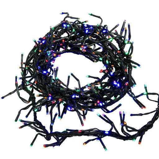 288-Piece Multi-Colour Chasing LED Cluster Lights String, 3 m