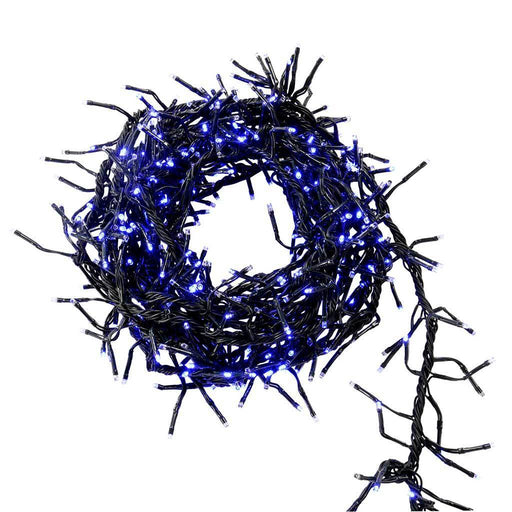 480-Piece Blue Chasing LED Cluster Lights String Christmas Tree Decoration
