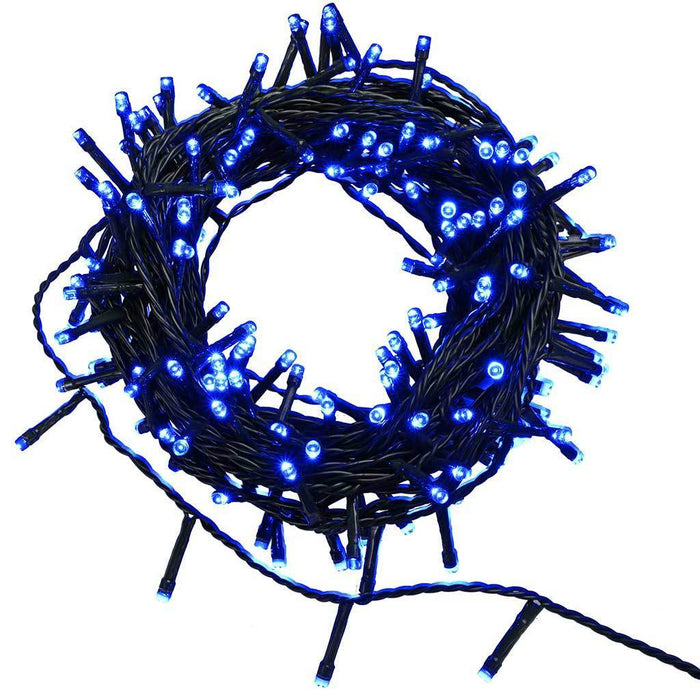 200-Piece Static Blue LED Lights String Christmas Tree Decoration