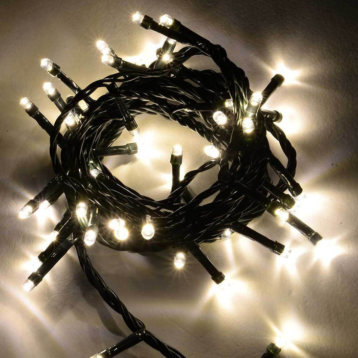 50-Piece LED Christmas Tree Lights String with Chasing/ Static Settings, Warm White