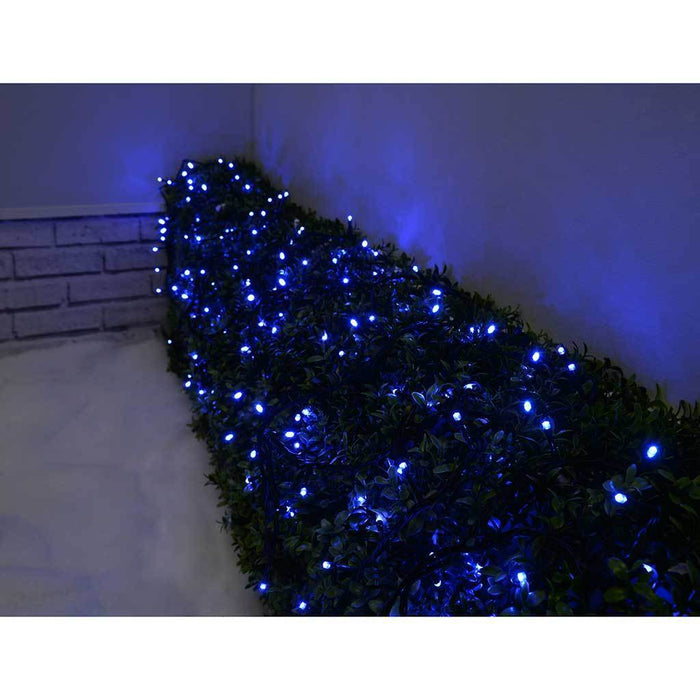 100-Piece LED Christmas Tree Lights String with Chasing/ Static Settings, Blue - 5 m