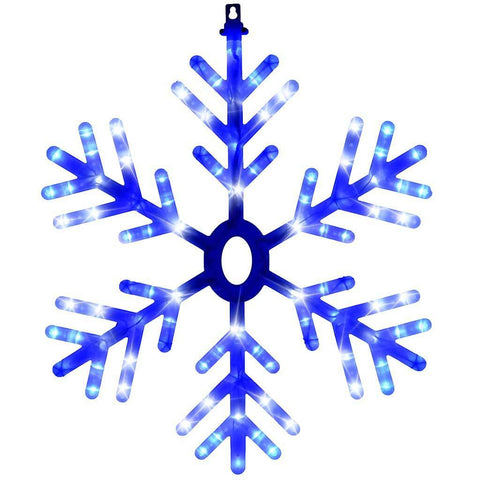 60 cm Pre-Lit Multi-Functional Snowflake Silhouette with 96 White/ Blue LED Lights
